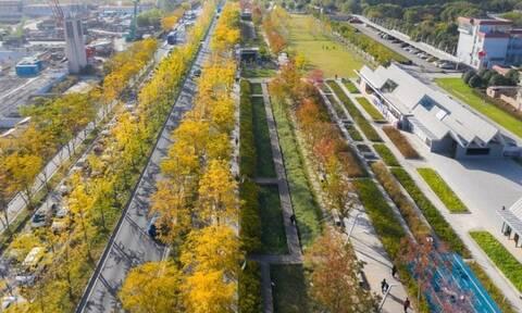 Πρώην διάδρομος αεροδρομίου έγινε πάρκο αναψυχής στη Σαγκάη