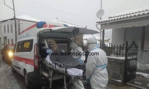 Μυτιλήνη: Μετέφεραν εμπύρετο περιστατικό μέσα στα Χιόνια