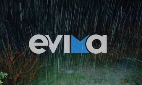 Εύβοια - Κακοκαιρία «Λέανδρος»: Σφοδρή χιονόπτωση αυτή την ώρα στην Κύμη