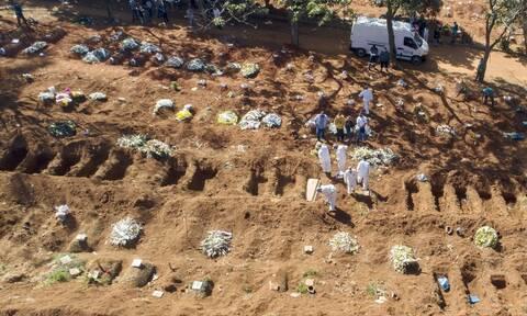 Βραζιλία: Οι νεκροί πλησιάζουν τις 210.000 - Πάνω από 8,48 εκατ. κρούσματα