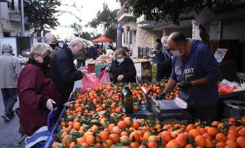 Lockdown: Επιτρέπονται από σήμερα τα βιομηχανικά είδη στις λαϊκές αγορές