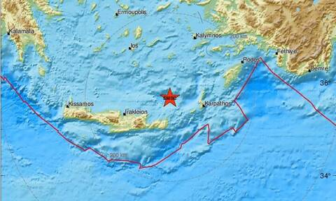 Σεισμός κοντά στην Κρήτη - Βόρεια της Σητείας το επίκεντρο (pics)