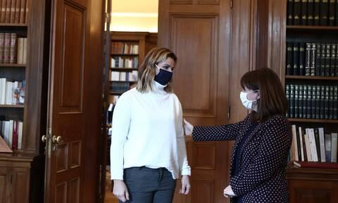Σοφία Μπεκατώρου: Στο Προεδρικό Μέγαρο η Ολυμπιονίκης - Συναντήθηκε με τη Σακελλαροπούλου