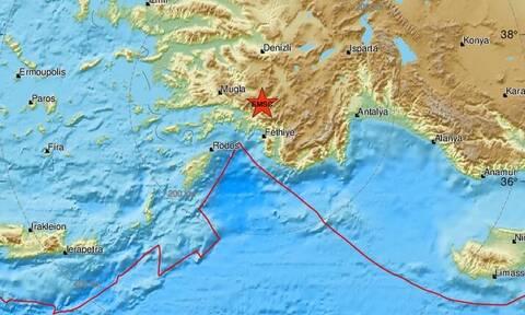 Σεισμός στη νοτιοδυτική Τουρκία - Αισθητός στη Ρόδο (pics)