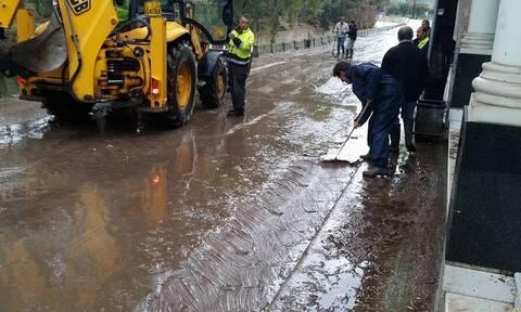 Μυτιλήνη: Σε κατάσταση έκτακτης ανάγκης μετά τις πλημμύρες