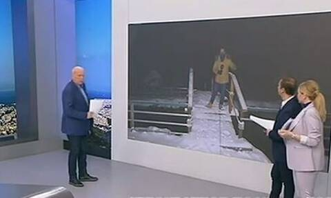 Ρεπόρτερ του ANT1 παραλίγο να φάει τούμπα στον αέρα (video)