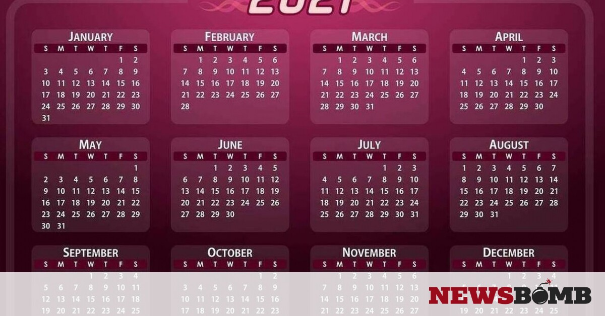 """Holidays 2021: When Net Monday and Easter """"fall"""" – Newsbomb – News"""