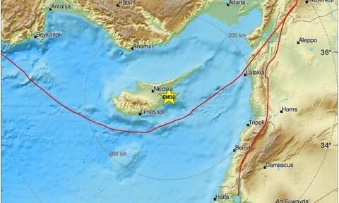 Ισχυρή σεισμική δόνηση ταρακούνησε την Κύπρο