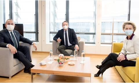 Συνάντηση Φον ντερ Λάιεν - Τσαβούσογλου με μήνυμα στην Τουρκία: Να δείξει έμπρακτα διάθεση διαλόγου