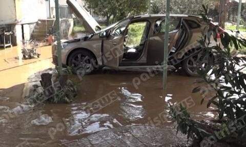 Κακοκαιρία Ηλεία: Πλημμύρες και κατολισθήσεις στη Ζαχάρω (pics)