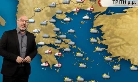 Καιρός - Αρναούτογλου: Προσοχή στις καταιγίδες, συνθήκες χιονοθύελλας στη Θράκη (vid)