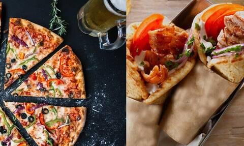 Πίτσα εναντίον σουβλάκι; Τι είναι πιο παχυντικό;