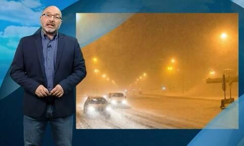 Καιρός - Αρναούτογλου: Μεγάλη προσοχή στη Θράκη! Πυκνές χιονοπτώσεις τις επόμενες ώρες