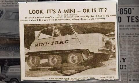 Αυτό το αρχέτυπο Mini ήταν το πρώτο που πάτησε στην Ανταρκτική