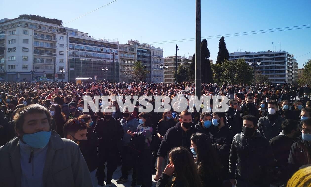 Χιλιάδες φοιτητές στο κέντρο της Αθήνας - Σε εξέλιξη το πανεκπαιδευτικό συλλαλητήριο