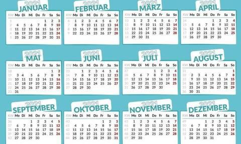 Αργίες 2021: Πότε «πέφτει» η Καθαρά Δευτέρα και το Πάσχα - Δείτε τις ημερομηνίες