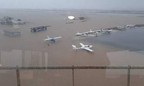«Βούλιαξε» το αεροδρόμιο Αλεξανδρούπολης: Μεγάλες ζημιές και ακυρώσεις πτήσεων