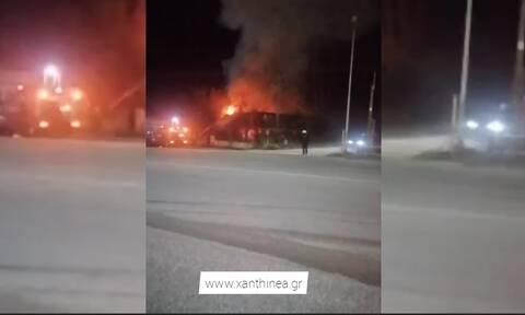 Ξάνθη: Πυρκαγιά κατέκαψε εστιατόριο (vid)