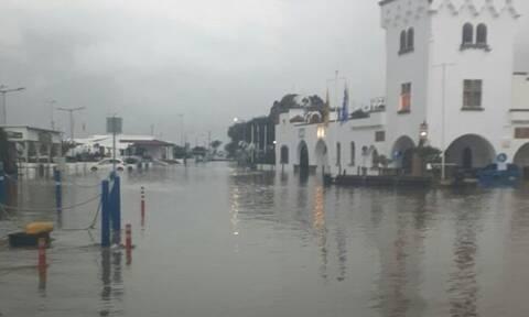 Καταστροφές από την κακοκαιρία στην Πάτμο - Αίτημα για να κηρυχτεί σε κατάσταση έκτακτης