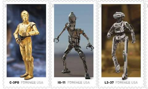 «Star Wars» γραμματόσημα από τα αμερικανικά ταχυδρομεία