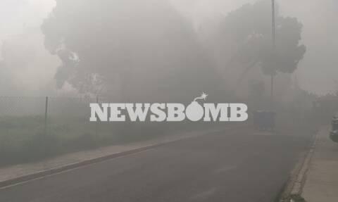 Φωτιά σε κτήριο στη Μεταμόρφωση - Αποπνικτική η ατμόσφαιρα