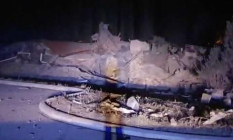 Καστοριά: Ισχυρότατη έκρηξη ισοπέδωσε το ξενοδοχείο «Τσάμης» - Απίστευτες εικόνες