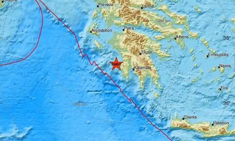 Σεισμός κοντά σε Κυπαρισσία και Φιλιατρά