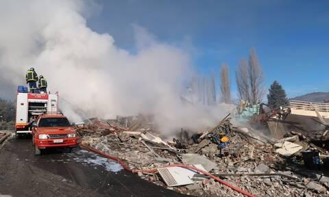 Καστοριά: Δεν έμεινε τίποτα όρθιο από το ξενοδοχείο - Εικόνες καταστροφής μετά την έκρηξη