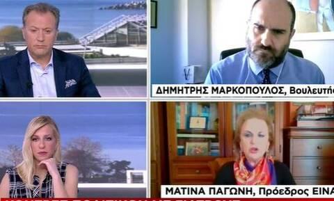 Κόντρα Μαρκόπουλου – Παγώνη On Air: «Kάνουμε την πανδημία lifestyle»
