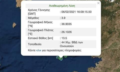 Σεισμός 3,9 Ρίχτερ στη Μυτιλήνη