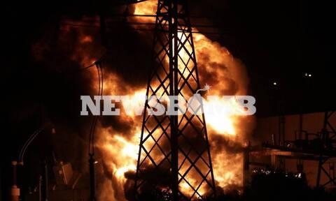 Μπλακ άουτ στην Αττική: Τέλος η φωτιά σε σταθμό της ΔΕΗ στον Ασπρόπυργο – Αποπνικτική η ατμόσφαιρα