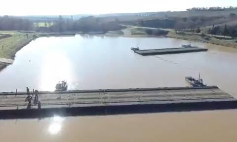 Πρόκληση από την Τουρκία με άσκηση διέλευσης ποταμού στην Ανατολική Θράκη