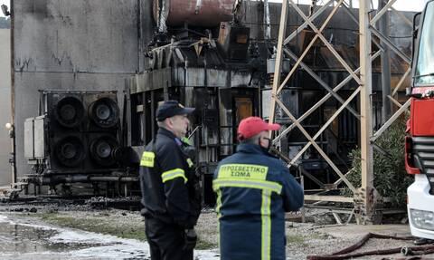 ΔΕΗ - Ασπρόπυργος: Εικόνα ολικής καταστροφής από τη φωτιά