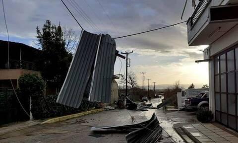 Ανεμοστρόβιλος «σάρωσε» χωριά στις Σέρρες - Άφησε πίσω του καταστροφές