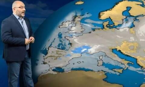 Καιρός: Προειδοποίηση Αρναούτογλου - Έρχεται εντυπωσιακή βουτιά της θερμοκρασίας και χιόνια