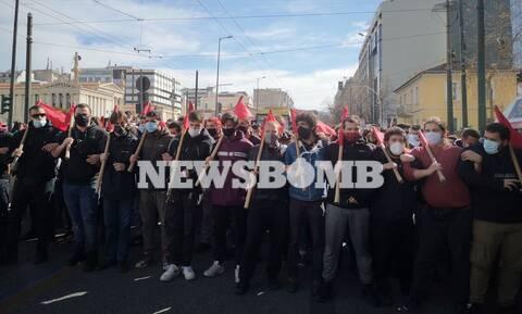 Συλλαλητήριο φοιτητών στο κέντρο της Αθήνας – Κλειστοί δρόμοι