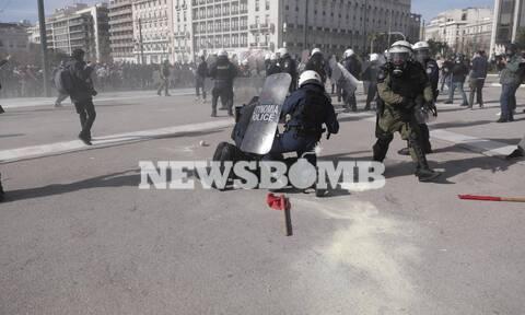Πανεκπαιδευτικό συλλαλητήριο: Πεδίο μάχης το κέντρο της Αθήνας - Χημικά, επεισόδια και προσαγωγές