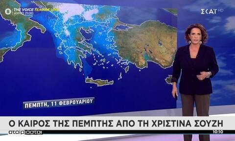 Καιρός – Χριστίνα Σούζη: Χιόνια και παγετός από το Σαββατοκύριακο – Η «Μήδεια» απειλεί την Ελλάδα