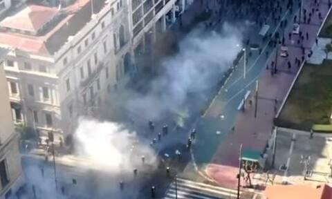 Βίντεο από drones της ΕΛ.ΑΣ.: Έτσι έγιναν τα επεισόδια στην Αθήνα - Τρεις αστυνομικοί τραυματίες