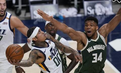NBA: Δεν έφτανε ο Γιάννης - Εντυπωσιαζουν οι Τζαζ (video+photos)