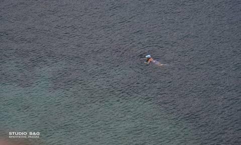 Κακοκαιρία: Ατρόμητοι κολυμβητές στο Ναύπλιο βούτηξαν στη θάλασσα με... θερμοκρασίες ψυγείου (pics)
