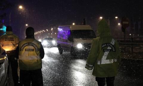 Κακοκαιρία «Μήδεια»: Διακοπή κυκλοφορίας των οχημάτων στην Λεωφόρο Μεσογείων