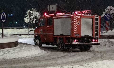 Κακοκαιρία «Μήδεια»: Εγκλωβίστηκαν 10 οδηγοί σε Αττική και Ριτσώνα