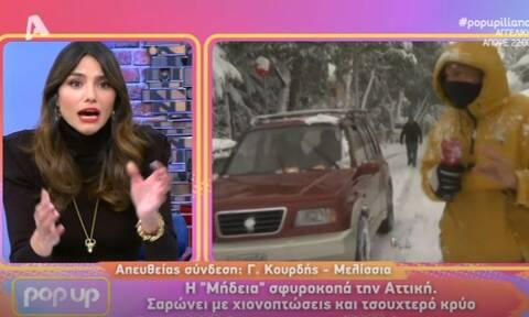 Παραλίγο να πατήσει αυτοκίνητο ρεπόρτερ του Pop Up - «Πάγωσε» η Ηλιάνα