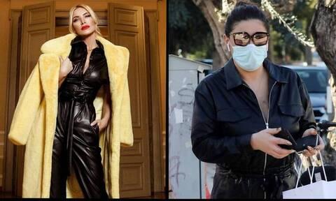 Καινούργιου – Παπαρίζου: Με την ίδια ολόσωμη φόρμα! Ποια τη φόρεσε όμως καλύτερα;