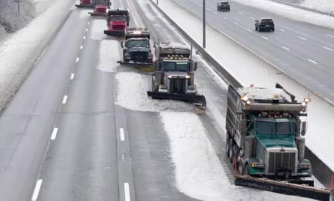 Δείτε πως μπορεί να κρατηθεί ανοιχτή η εθνική οδός από το χιόνι (vid)