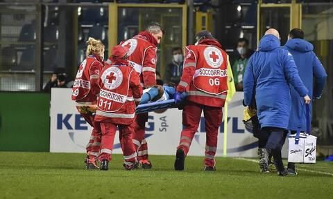 Serie A: Σοκαριστική στιγμή – «Πάγωσαν» με Όσιμεν, χτύπησε στο κεφάλι (video)