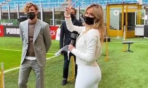 Ντιλέτα Λεότα: Η σέξι ρεπόρτερ που... απογείωσε το Μίλαν – Ίντερ (photos+video)