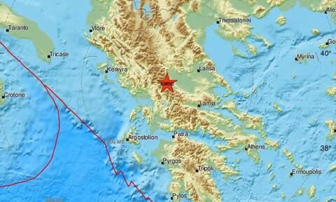 Σεισμός κοντά στην Καλαμπάκα
