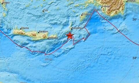 Σεισμός νότια της Καρπάθου και της Κάσου